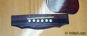 indian rosewood guild guitar bridge