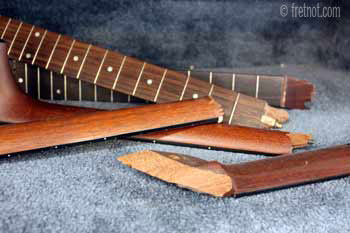 broken guitar necks