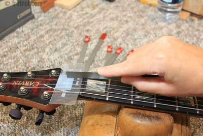 how to remove replace the nut on your electric guitar. Black Bedroom Furniture Sets. Home Design Ideas