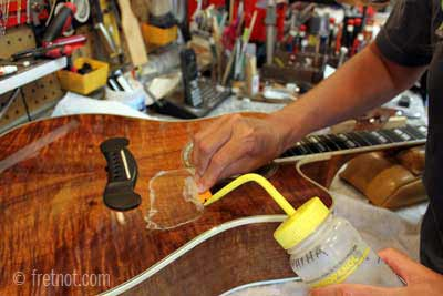 Installing Pickguards On Acoustic Guitars Adhesive Removal Making